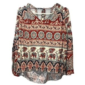 Chaser Boho Open Back Top Mandela Women's Medium